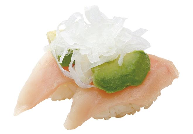 image of 牛油果鬓长金枪鱼